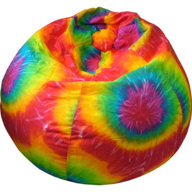 Gold Medal Bean Bags Tie Dye Bean Bag Chair