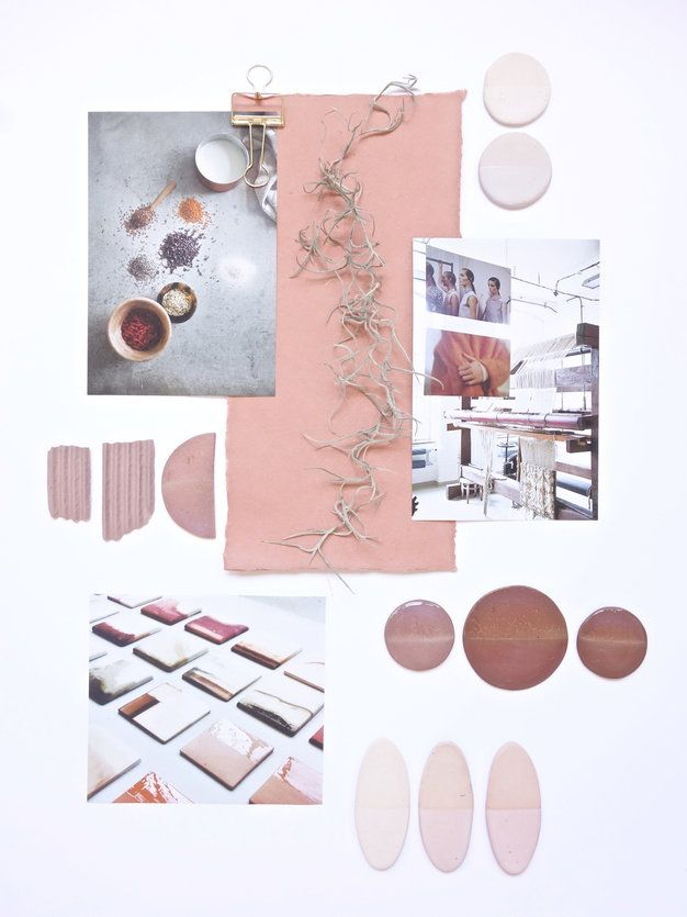 Mood boards: Ceramics Colour Palette Mood Board by Gudy Herder