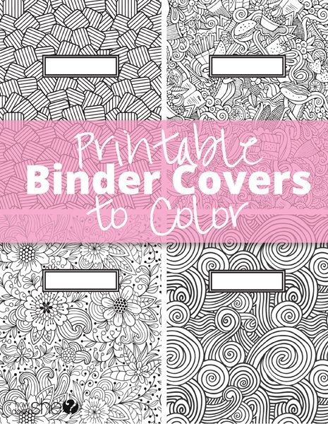 Free printable binder covers to colour