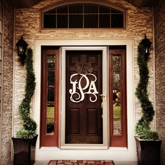 Monogram Front Door Decoration: 25+ Best Ideas About Monogram Door Decor On Pinterest
