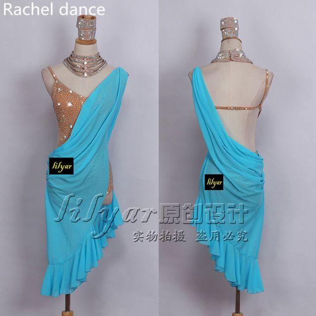 2017 плечо Латинской платье для танцев женские танго платье Сальса Румба современные танцевальные костюмы бахрома Латинской платье Одежда для танцев танцевальная одежда