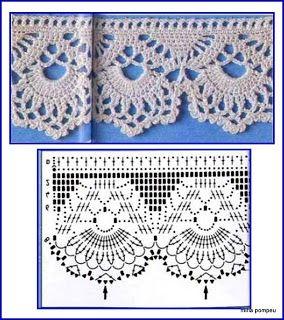 Crochet lace edging ~ MIRIA CROCHÊS E PINTURAS: BARRADINHOS DOCES E ENCANTADORES