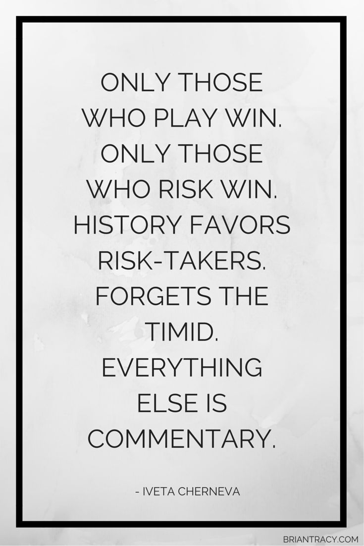 write about risk and win