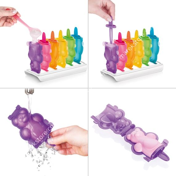 Rozkładane foremki do wykonania domowych lodów