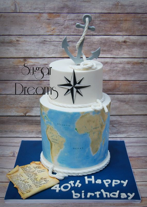 The 25 best map cake ideas on pinterest travel cake globe cake map cake frosting sheets icing sheet wafer paper map by decoreats sciox Images