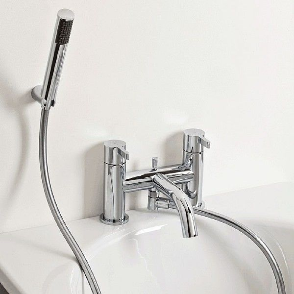Moto Bath Shower Mixer & Flexible Shower Set | Bath Taps | CP Hart