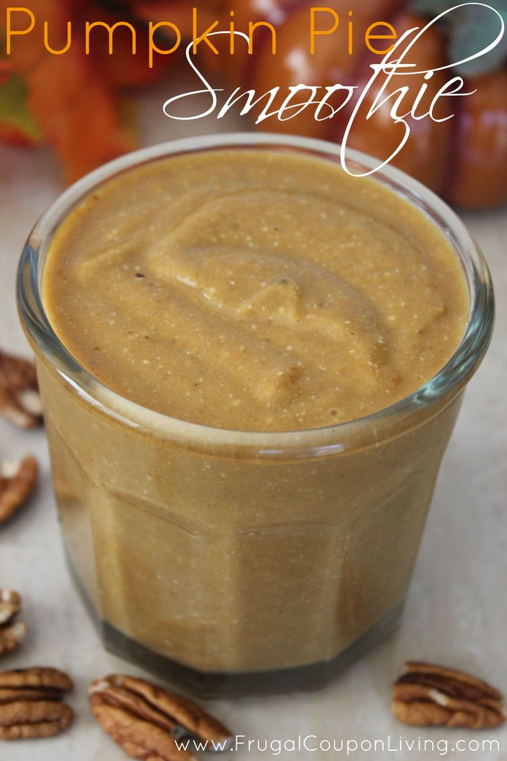 Fall Pumpkin Pie Smoothie Recipe with Juice Plus Complete French Vanilla Protein Powder. More Plus+ Recipes and FREEBIES on Frugal Coupon Living.