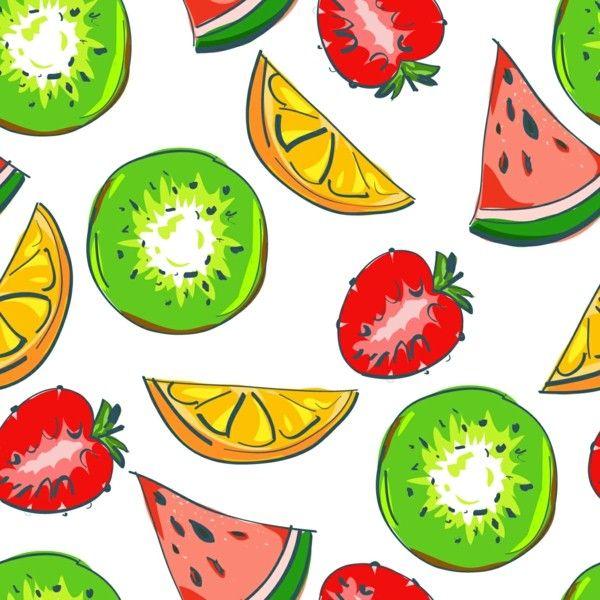 beau fond d'écran motif pastèque fraise fruits