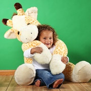 Plushed stuffed animal by Purr-fection.  I always wanted a big stuffed animal I could snuggle with, this is so cute.