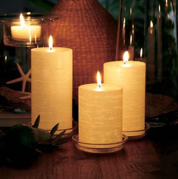 PartyLite GloLite Pillar Candles ~ February Host Reward for only $18 (for the trio). Pic taken by Marianne McCarthy