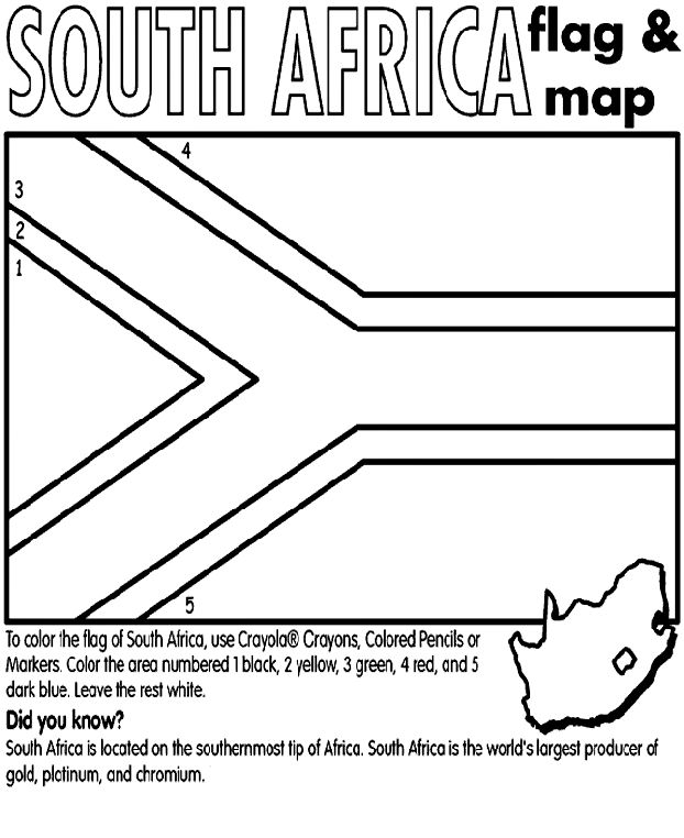 africa flag coloring pages - photo#14