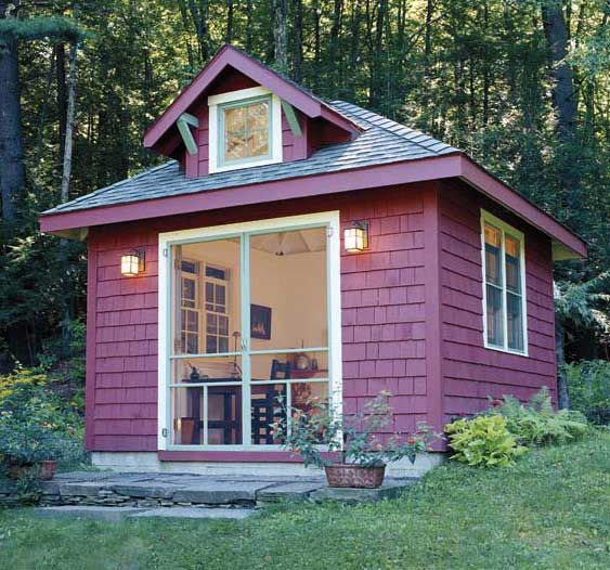 10 best writing studio inspiration images on pinterest for Backyard cottage shed