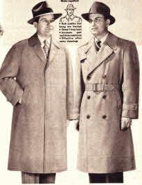 Mens overcoats in the 50s