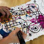 5th Miro Abstracts underway! Loving these Faber-Castell artist brush pen! A new favorite art tool!!!! #studentartwork #workofart #middleschoolart #5thgradeart #Miro #arted #artteacher #art #iteachart