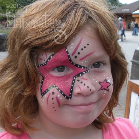 Star Face Paint half face