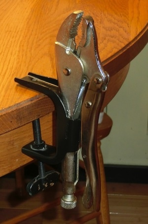 Cool Tools – Grip-On Locking Pliers Clamp (clamp your vise grips to another surface)
