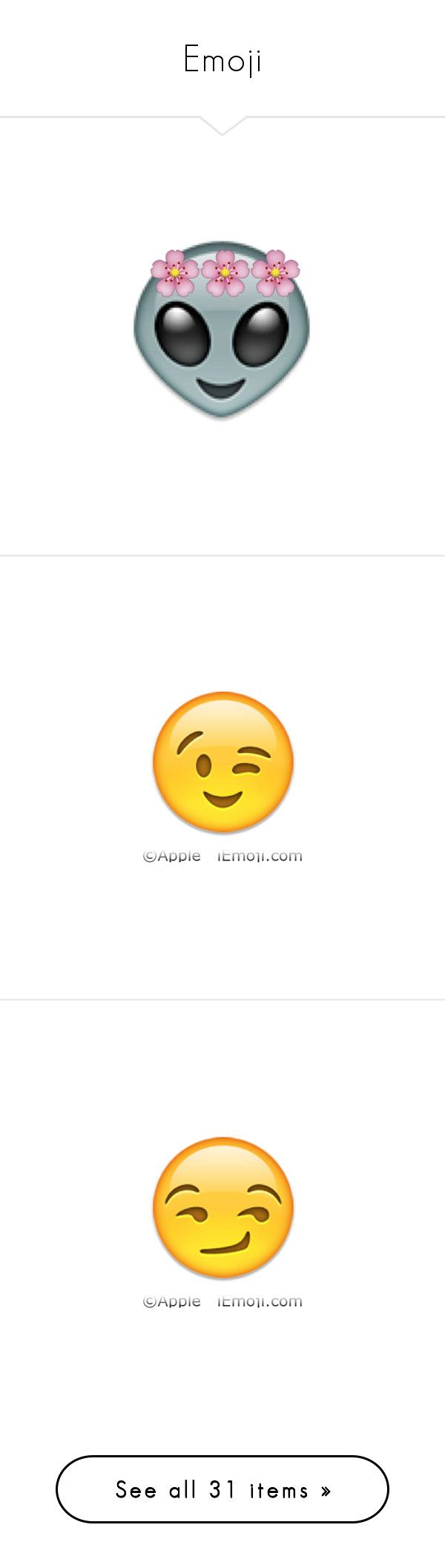 """""""Emoji"""" by wwedaninoel ❤ liked on Polyvore featuring emojis, fillers, pink, tumblr, extra, emojis // transparent, text, quotes, doodle and saying"""