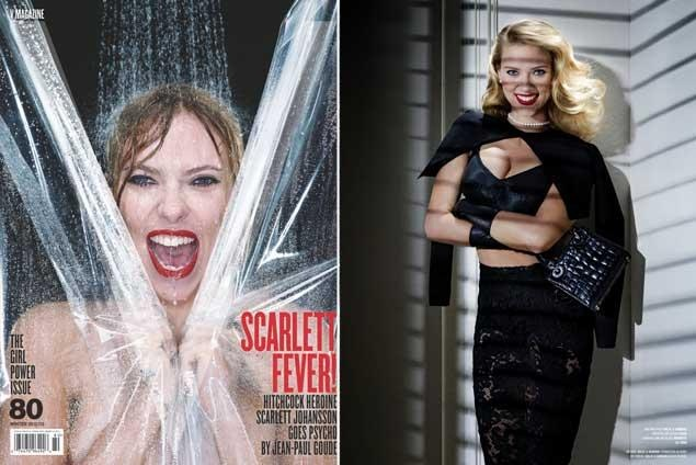 Scarlett Johansson recreates 'Psycho' shower scene for V magazine, calls 'Hitchcock' costar Anthony Hopkins 'terrifying' - NY Daily News