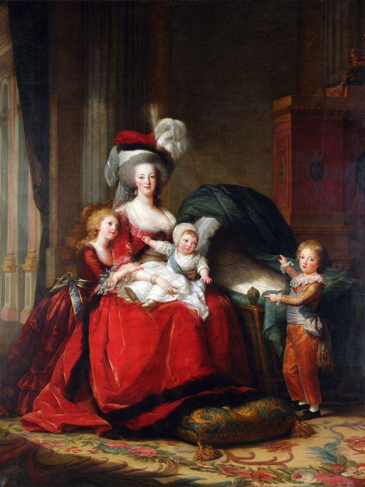 Фигуративная живопись холст Imagich топ 100 отпечатков королева мария-антуанетта и ее дети 1787 по элизабет луиза Vigee LeBrun