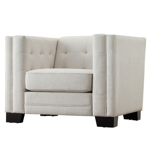 found it at allmodern vidette square tufted upholstered arm chair