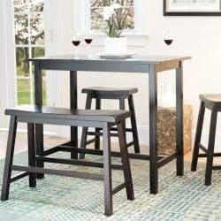 The bistro pub 4-piece set is perfect for anyone that wants to add a clean yet stylish counter table set to any dining area. This 4-piece counter-height set features a 36-inch high table with two 24-inch high stools and one bench.