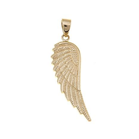 Michael Anthony 10k Yellow Gold Angel Wing Pendant Gold Angel Wings Yellow Gold Angel Wing Pendant