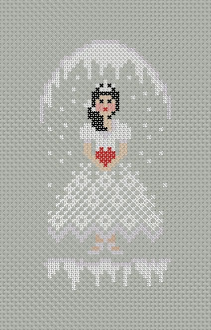 Little Snow Princess PDF Cross Stitch Pattern by PatternBird, $4.00