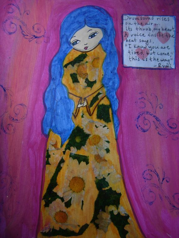 This is the way  art print of my mixed media painting by eltsamp, $20.00