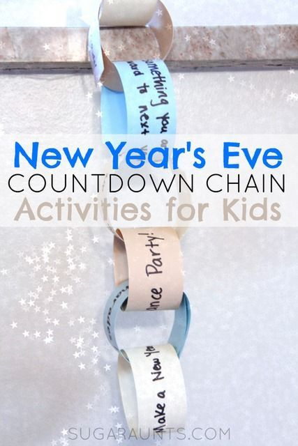 New Year's Eve Activity countdown for kids.  This is a great way to get the …