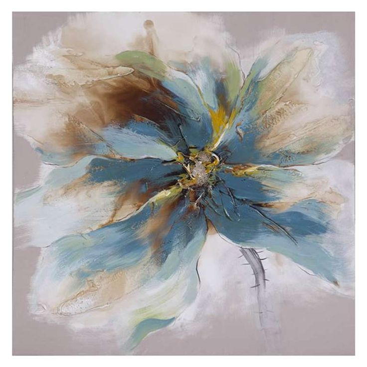 Canvas art - blue & white flower.  #9623184 $79.99     www.lambertpaint.com