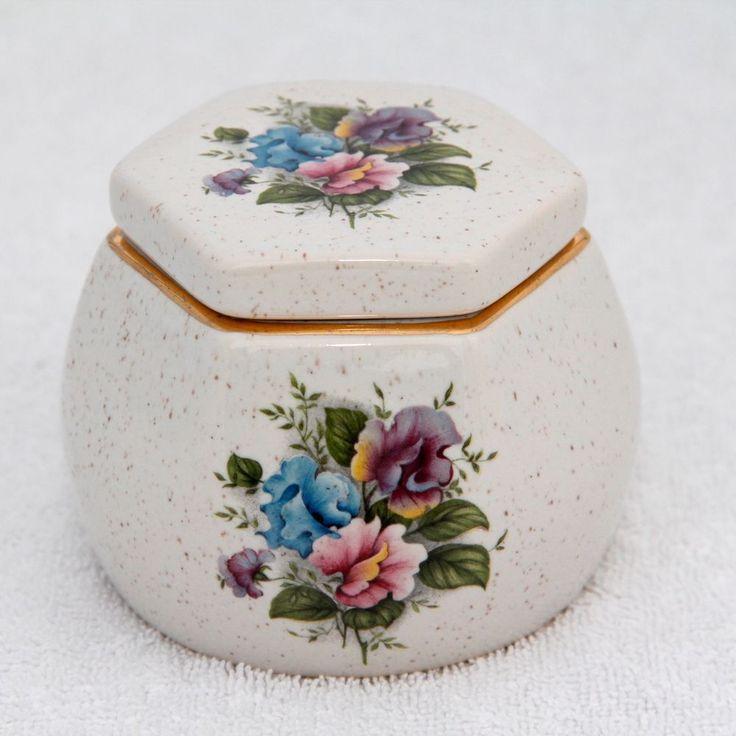 Kernewek Pottery Trinket Jar Earthenware Cornwall Goonhavern Cottage 3in Tall
