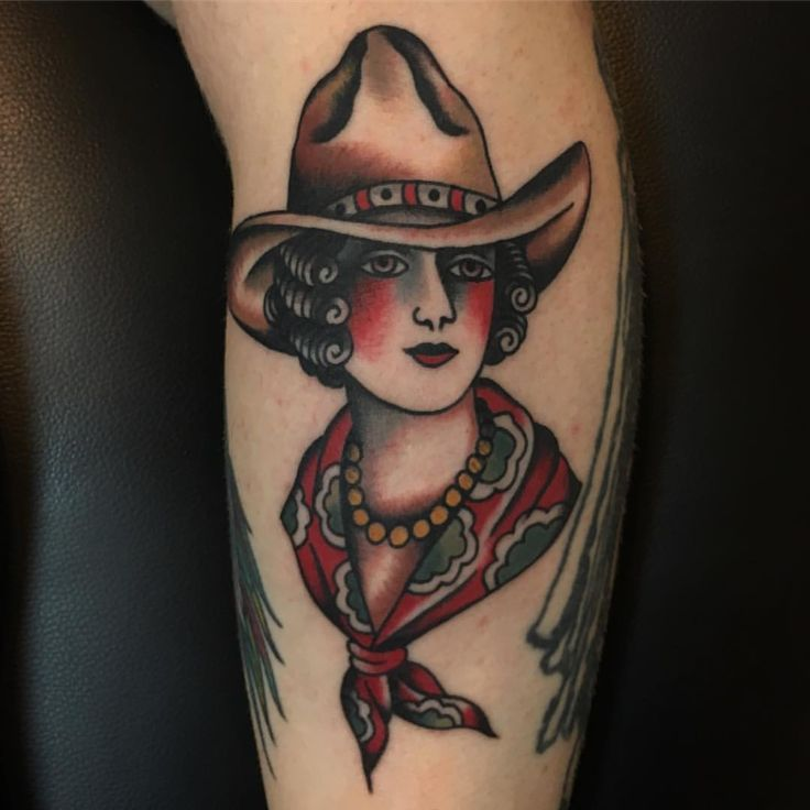 """318 Likes, 12 Comments - Travis Furton (@travisfurton) on Instagram: """"cowgirl made on my pal john! for tattoo appointments email: theghostofmine@gmail.com @martlettattoo"""""""