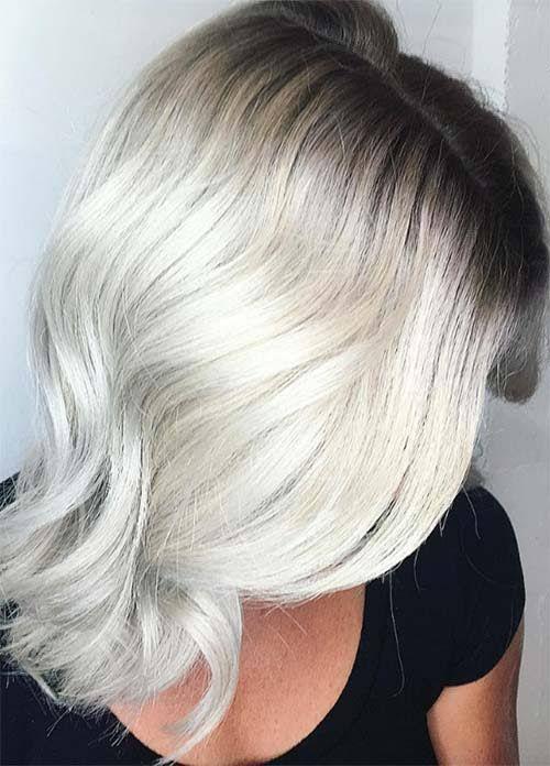 Granny Silver/ Grey Hair Color Ideas: Bleached Gray Hair With Dark ...