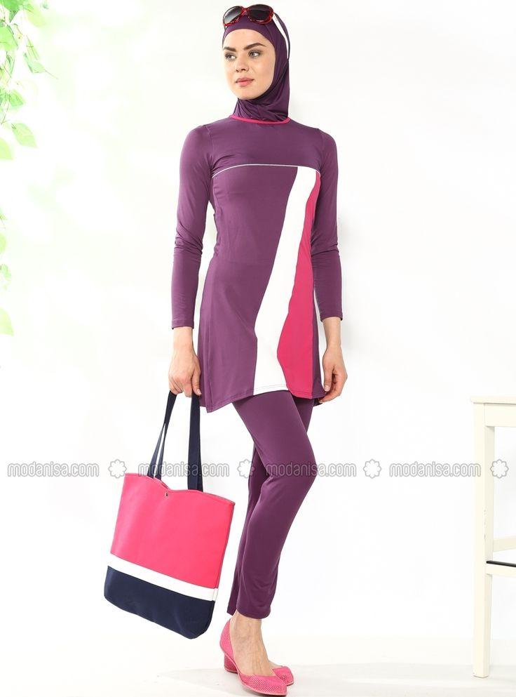 Fully Covered Swimsuit - Purple - Marina Mayo