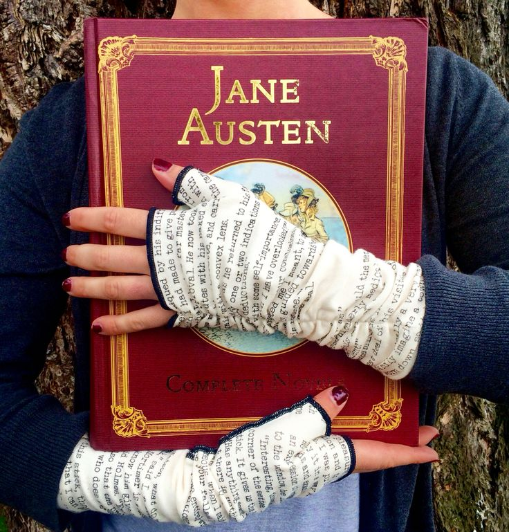 Stay warm, stay creative, with these statement Jane Austen writing gloves.