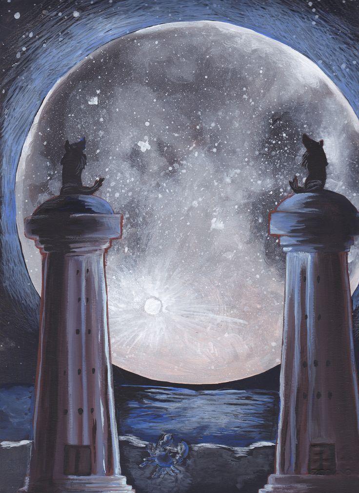 tarot, the moon - Francesca Piva https://www.facebook.com/Francesca-Piva-1518741268452199/