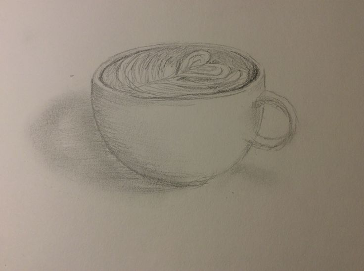 Coffee. Pencil 4B. #october#pencil#drawing