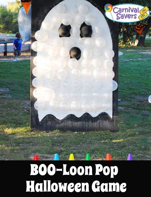 DIY Halloween Game - No DARTS Needed - BOO-Loon Pop! See how to make this safer balloon pop Halloween game!