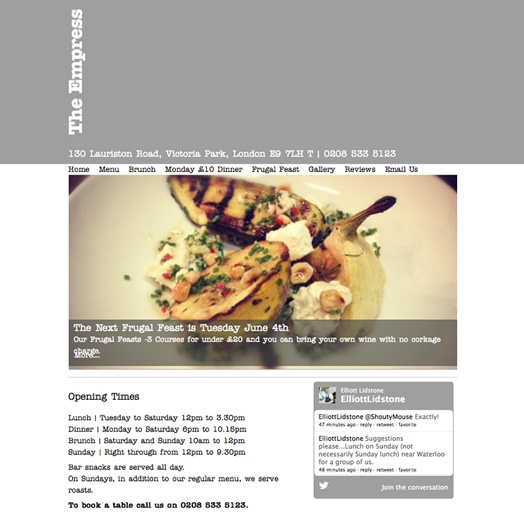 The Empress: swish bar and dining room near Victoria Park, Hackney  http://empresse9.co.uk