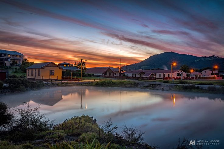 A stunning sunset over Ohinemutu Village, Rotorua on Monday night. The awesome high wispy clouds caught the colour nicely that …