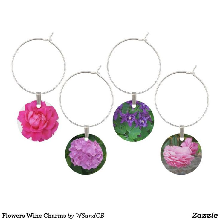 Flowers Glass stem Charms. Know someone who's difficult to buy for? Here's How to find one-of-a-kind presents! #presents #giftsforhim #giftsforher