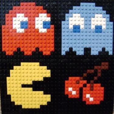 Pacman Lego Mosaic — A video game inspired craft weblogLego 8 bit