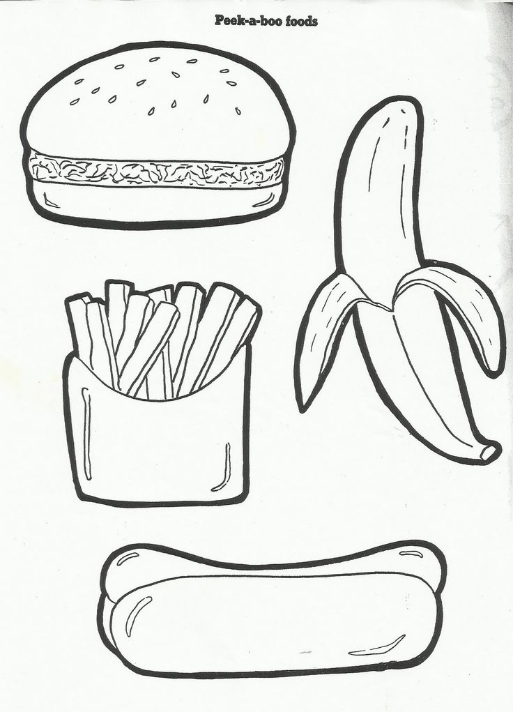 kids coloring pages nutrition foods - photo#28