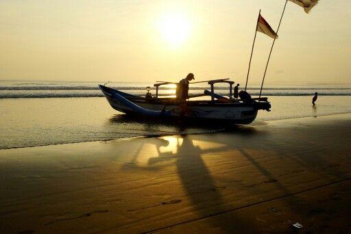 Sunset dipantai Pangandaran,  Ciamis, Jabar