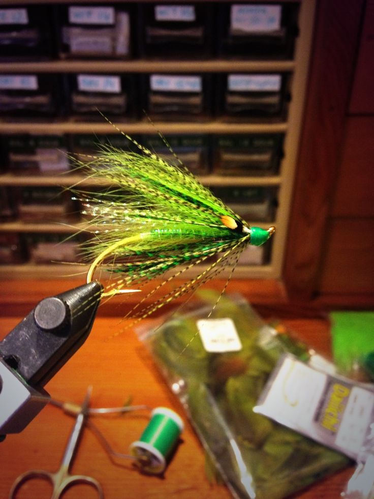 Video and photos about how to tie the Marc LeBlanc Green Spey fly pattern.