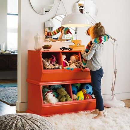 Use Cubbies to Keep it Tidy-10 Tips for Creating a Playroom That Is Both Fun and Educational: Kids Lights, Kiddo Playrooms, Floors Lamps, Kids Toys Boxes, Land Of Nod, Chevron Stripes, Toys Storage, Kids Storage, Kids Rooms