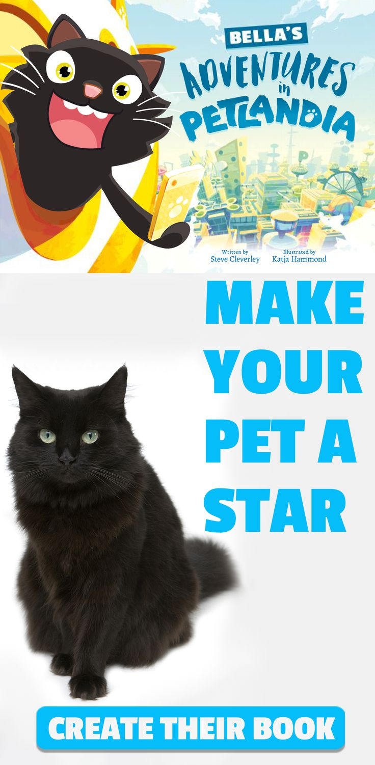 Your Pet Becomes The Star of the show when you bring their story to life in their own action filled adventure book.