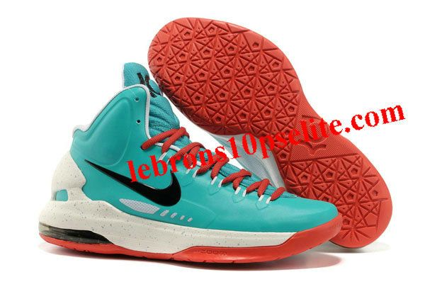Nike Zoom Kevin Durant\u0027s KD V Basketball shoes Green/White/Red