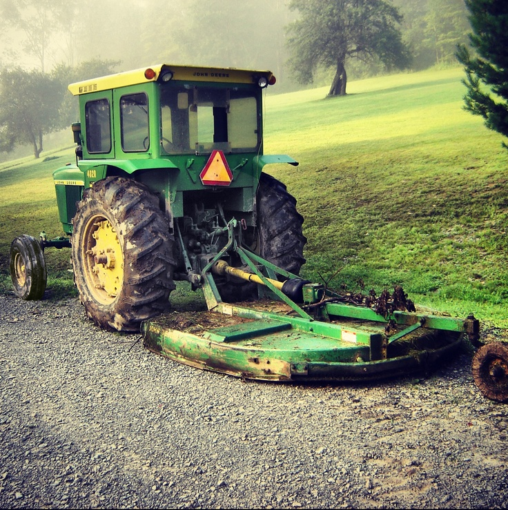 Tractor With Windows : John deere and brush hog looks like a model or