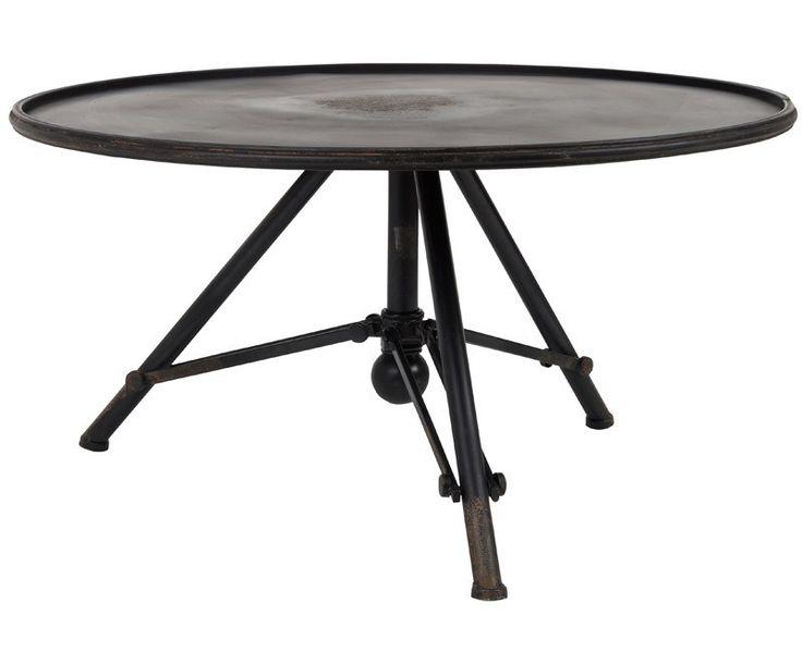 Dutchbone+Brok+Sofabord+-+jern+-+Flot+sofabord+med+vintagelook.+Bordet+er+lavet+i+jern+og+har+en+bordplade,+som+står+på+en+foldbar+ramme.+